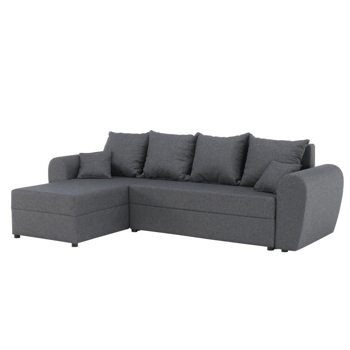 2080755cb5 Rohová sedačka s rozkladom a úložným priestorom Roma New L P - sivá ...