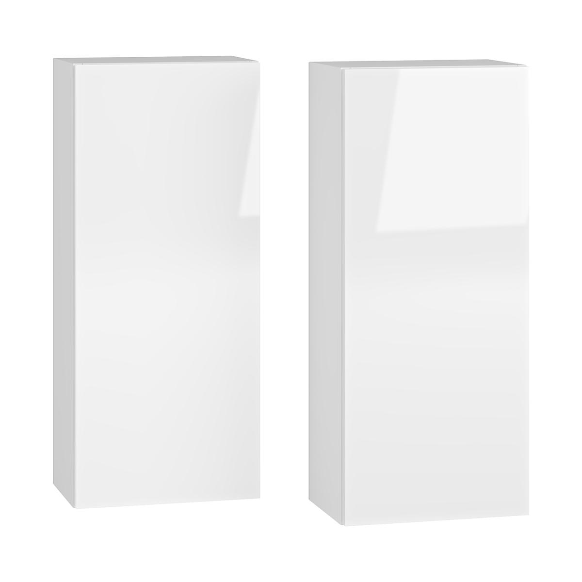 NABBI Baleta S2 kúpeľňová skrinka na stenu (2 ks) alaska / biely lesk