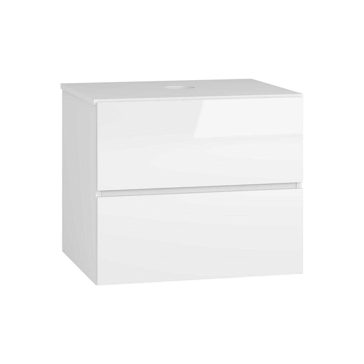 NABBI Baleta S60 kúpeľňová skrinka pod umývadlo alaska / biely lesk
