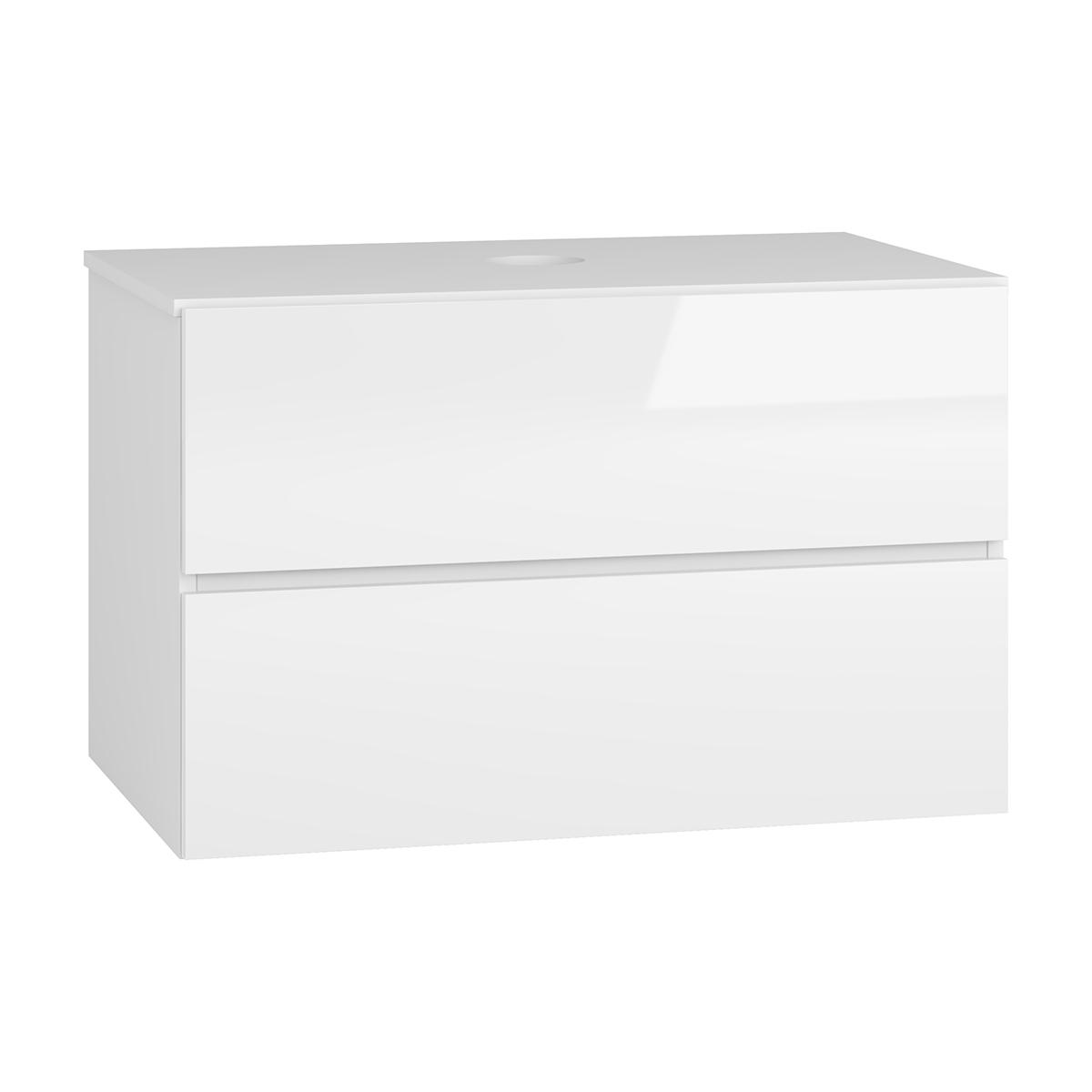 NABBI Baleta S80 kúpeľňová skrinka pod umývadlo alaska / biely lesk