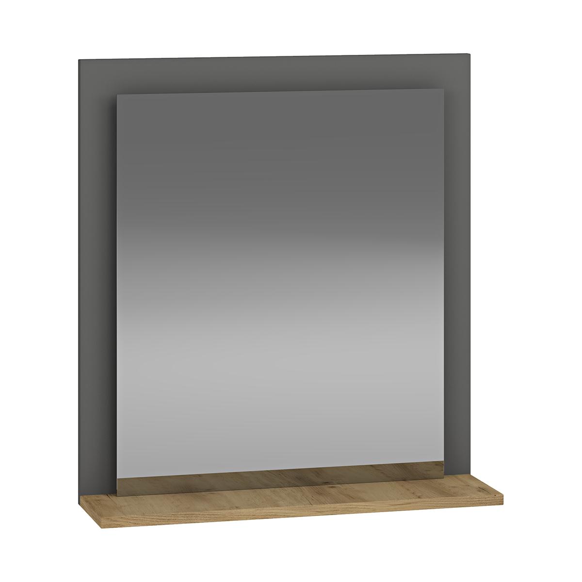 NABBI Baleta Z60 zrkadlo na stenu antracit / craft zlatý