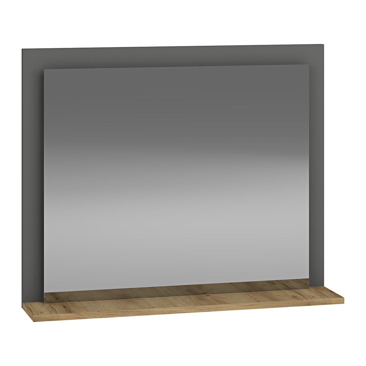 NABBI Baleta Z80 zrkadlo na stenu antracit / craft zlatý