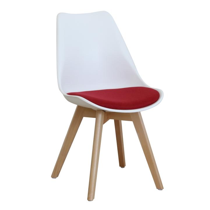 f2362a0c9491 Jedálenská stolička Damara - biela   červená   buk