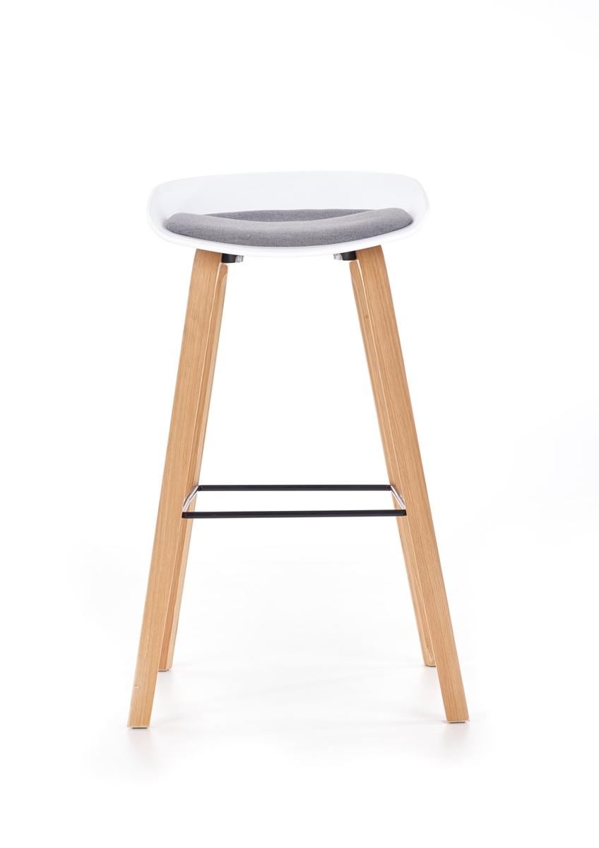 8bb4aa4a84bf4 ... Barová stolička H-86 - biela / sivá ...