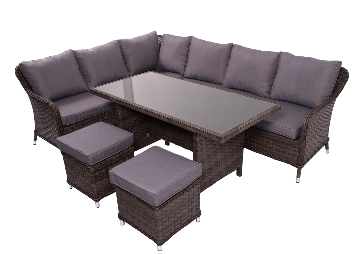 9c3c55bb312ce Záhradný nábytok z umelého ratanu Grandissimo - tmavosivá / sivá ...