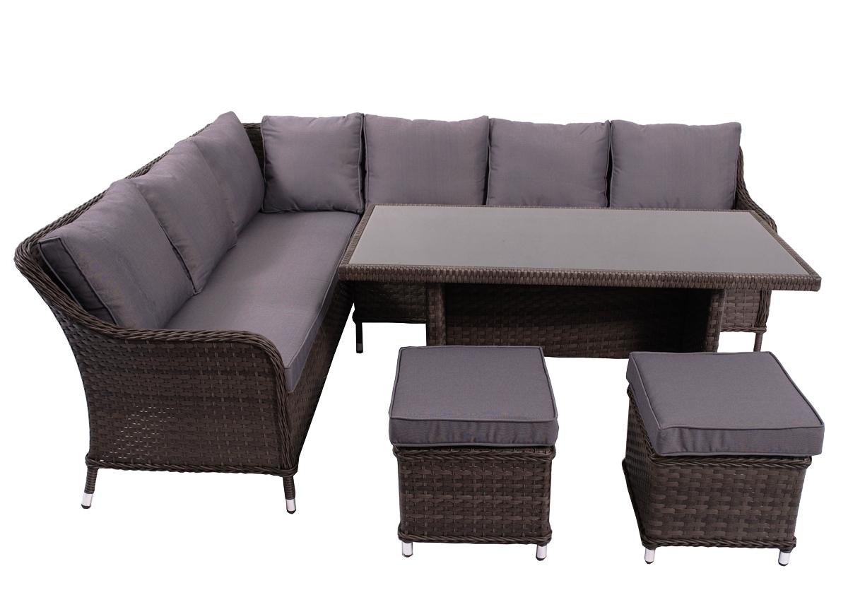 86773b5937b02 ... Záhradný nábytok z umelého ratanu Grandissimo - tmavosivá / sivá ...