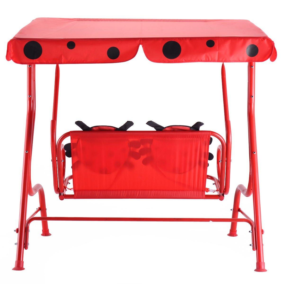 e0d14a3578377 ... Detská záhradná hojdačka Ladybird - červená ...
