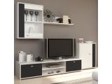 Obývacia stena Genta - biela / čierna