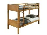 Drevená poschodová posteľ s roštami Makira 90 - dub