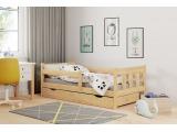 Drevená posteľ s prísteľkou Marinella 80 - prírodná