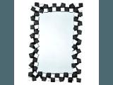 Zrkadlo na stenu Elison Typ 8 - čierna / biela
