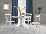 Okrúhly jedálenský stôl Gloster - biely lesk