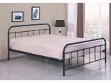 Kovová jednolôžková posteľ s roštom Linda 120 - čierna