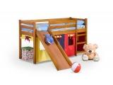 Drevená poschodová posteľ s roštom a matracom Neo Plus 80 - jelša