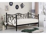 Kovová jednolôžková posteľ s roštom Sumatra 90 - čierna