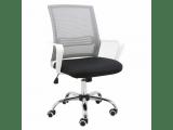 Kancelárska stolička s podrúčkami Apolo - sivá / čierna / biela