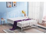 Kovová jednolôžková posteľ s roštom Panama 120 - biela