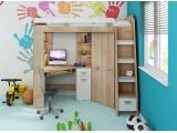 Zostava do detskej izby Antresola P - sonoma svetlá / biela