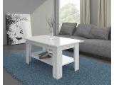 Konferenčný stolík Elaiza - biely mat / biely vysoký lesk