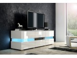 TV stolík Inter - biela / biely lesk