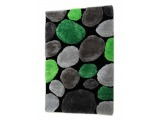 Koberec Pebble Typ 1 70x210 cm - zelená / sivá / čierna