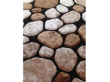 Koberec Pebble Typ 2 70x210 cm - hnedá / čierna