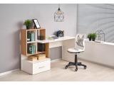 Písací stôl Grosso - dub zlatý / biela