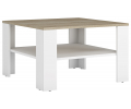 Konferenčný stolík Lund - biela / dub sonoma