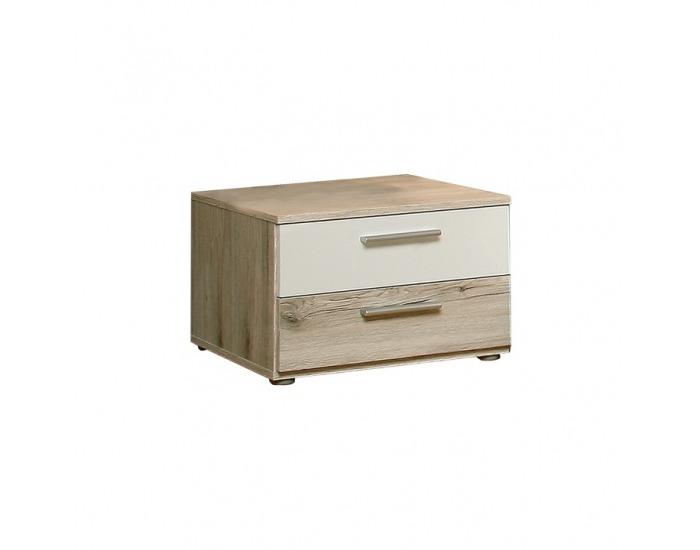 Nočný stolík (2 ks) Valeria 2 - dub pieskový / biela