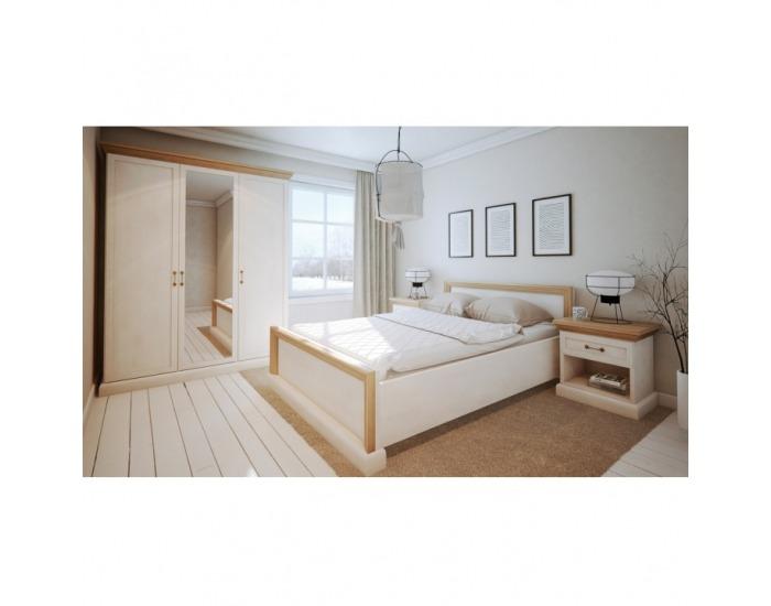 Nočný stolík Royal SN - biela sosna nordická / dub divoký
