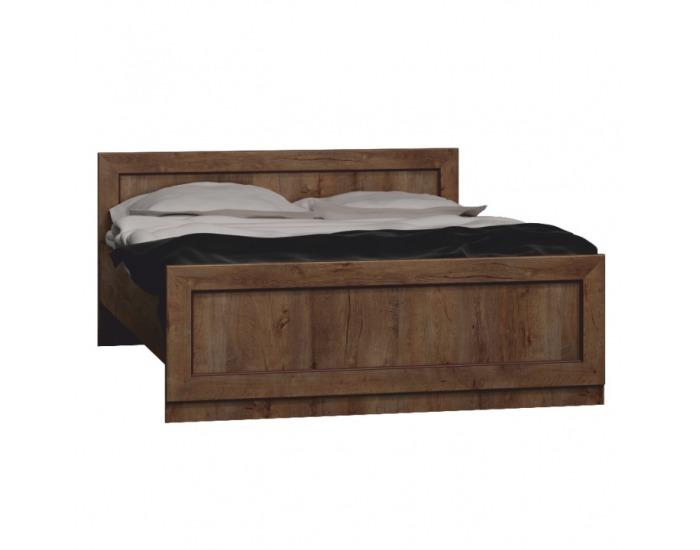 Rustikálna posteľ s roštom Tedy T20 160 - dub lefkas