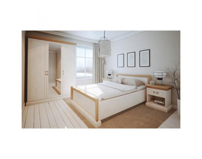 Sektorová spálňa Royal S - biela sosna nordická / dub divoký