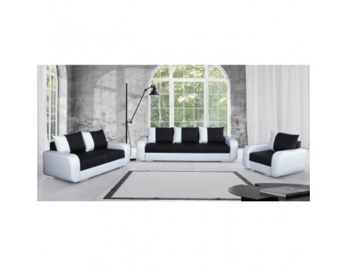Dvojsedačka Mono - biela / čierna