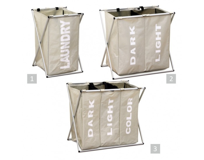 Kôš na prádlo Laundry Typ 2 - sivobéžová