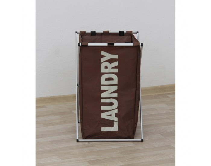 Kôš na prádlo Laundry Typ 1 - tmavohnedá
