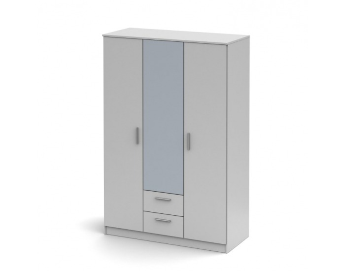Šatníková skriňa so zrkadlom Noko-Singa 82 3D - biela