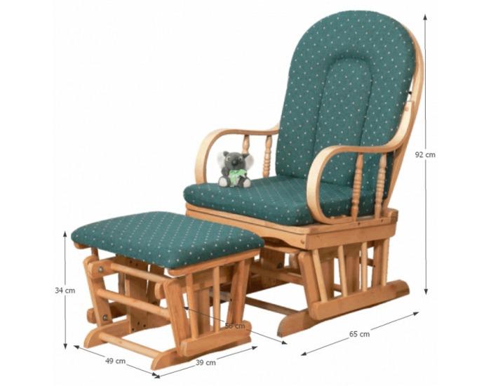 Relaxačné kreslo Relax Glider 87107 - buk / zelená