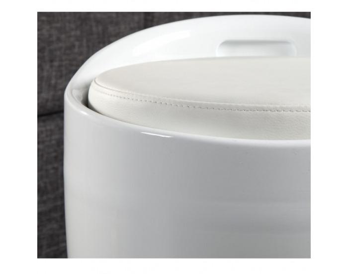 Taburetka s úložným priestorom Dalila HC-8114 New - biela