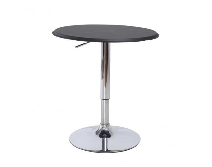 Barový stôl Brany - chróm / čierna