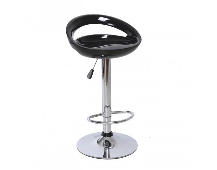 Barová stolička Dongo HC-104 New - čierna / chróm