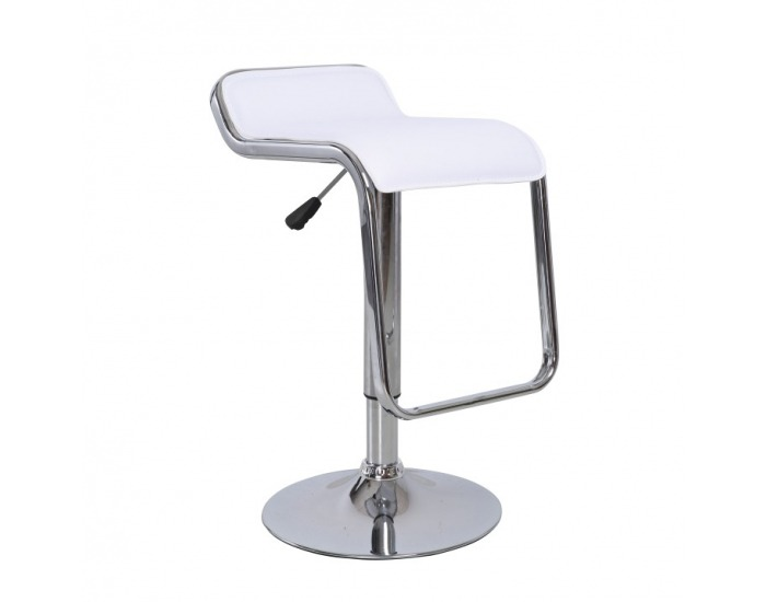 Barová stolička Ilana - biela / chróm