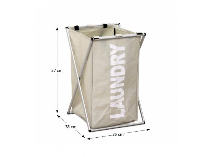 Kôš na prádlo Laundry Typ 1 - sivobéžová