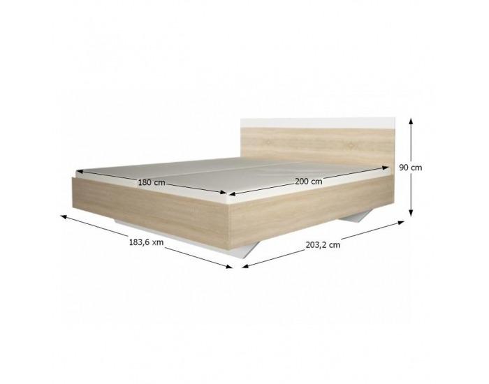 Manželská posteľ Gabriela 180 - dub sonoma / biela