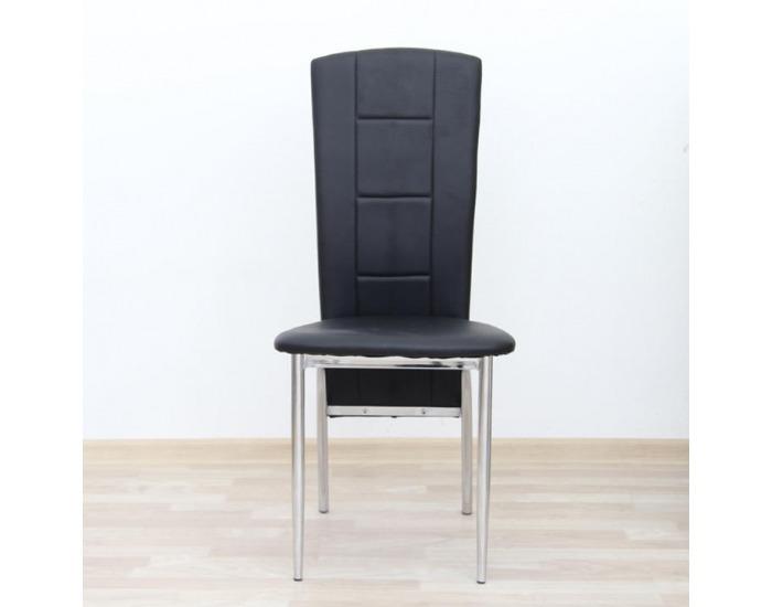 Jedálenská stolička Fina - čierna / chróm