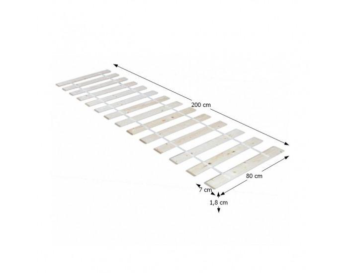Lamelový rošt Plaza 80x200 cm - rolovaný