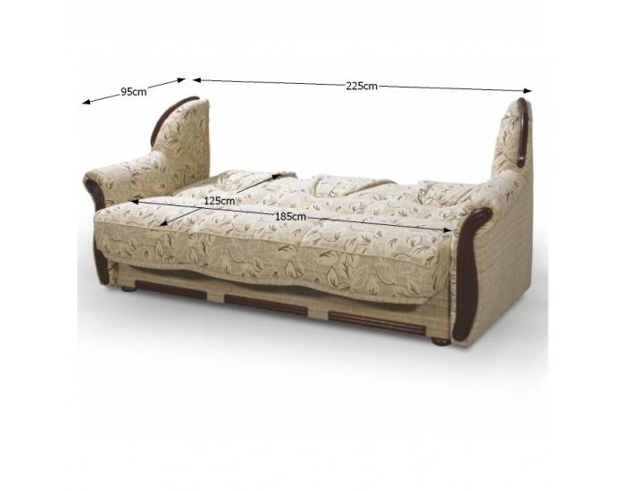 Rozkladacia sedacia súprava s úložným priestorom Mety - béžová