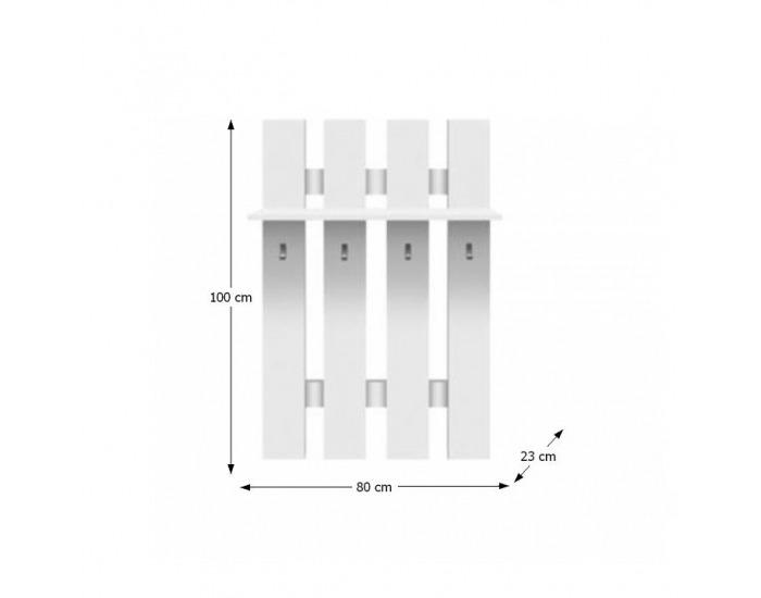 Vešiaková stena Topty Typ 17 - biela