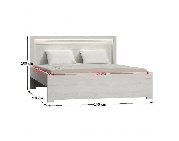Manželská posteľ s roštom Infinity 19 160 - jaseň biely