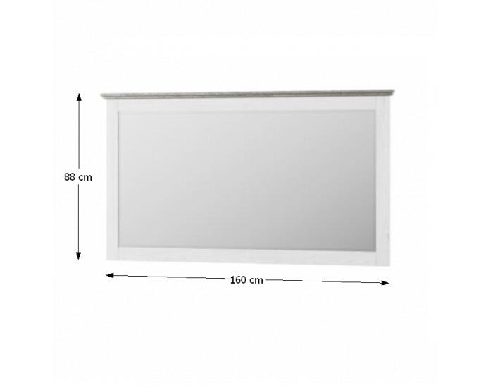 Zrkadlo na stenu Liona LM 28 - biela