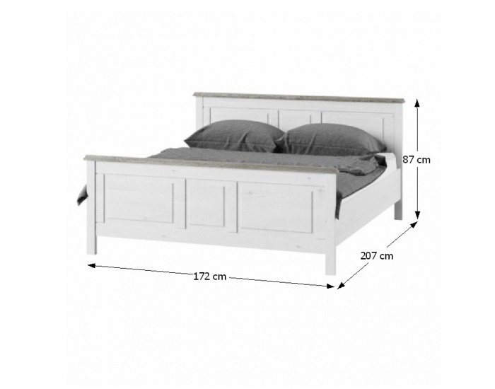 Manželská posteľ Liona LM 16 160 - biela